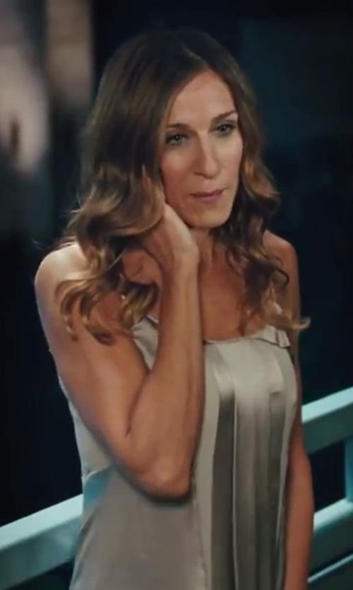Sarah Jessica Parker with Calvin Klein Maxi Dress in Sex and the City 2