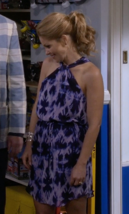 Candace Cameron Bure with S.L. Fashions Floral Halter Dress in Fuller House