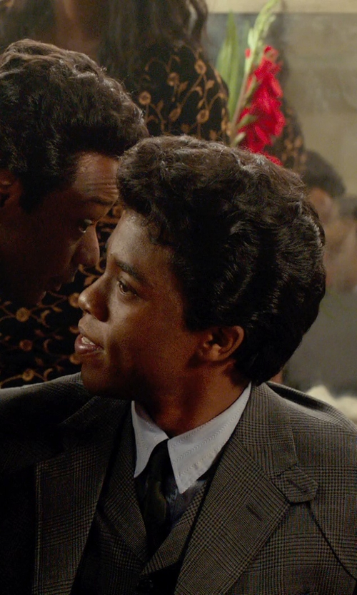 Chadwick Boseman with DSquared2 Stretch Dress Shirt in Get On Up