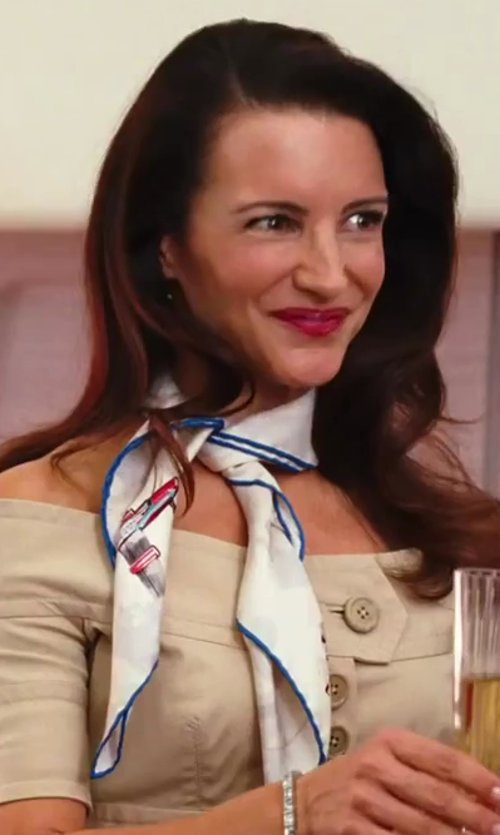 Kristin Davis with Chanel Printed Scarf in Sex and the City 2