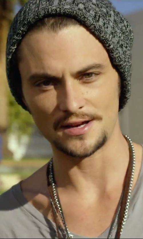 Shiloh Fernandez with Maxime Llorens Arrow Pendant Necklace in We Are Your Friends