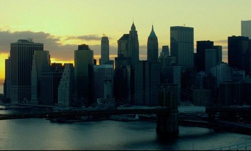 Unknown Actor with Brooklyn Bridge New York City, New York in John Wick