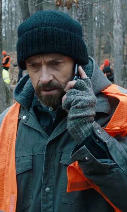 Hugh Jackman with Dsquared2 Fingerless Gloves in Prisoners