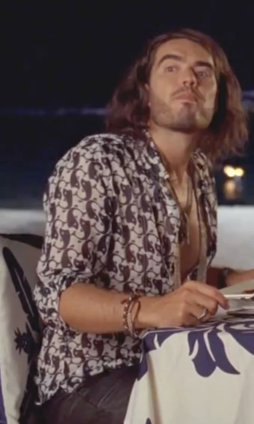 Russell Brand with Pure  Patterned Button-Front Shirt in Forgetting Sarah Marshall