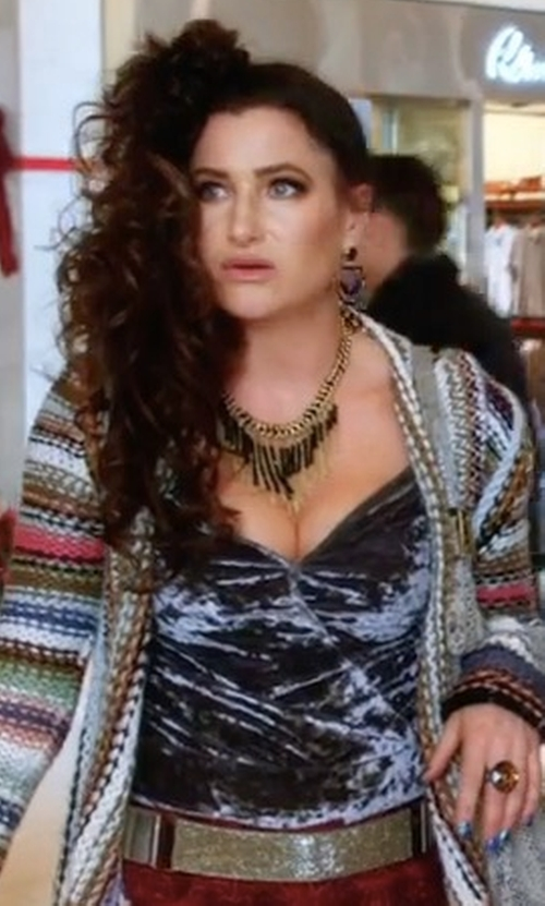 Kathryn Hahn with Bardot Courtney Halter Top in A Bad Moms Christmas