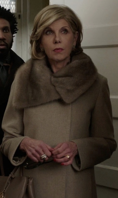 Christine Baranski with Sam. Crosby Jacket in The Good Fight