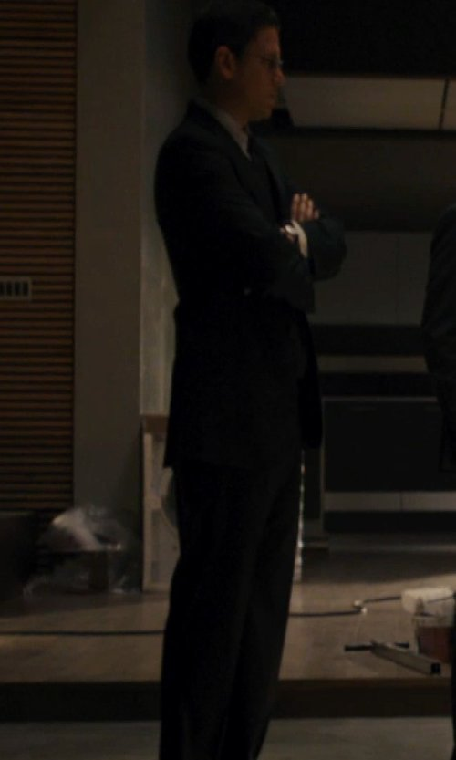Wentworth Miller with Ralph Lauren Anthony Solid Suit in The Loft