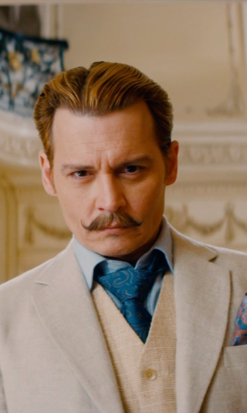 Johnny Depp with Ralph Lauren Solid Broadcloth French Shirt in Mortdecai