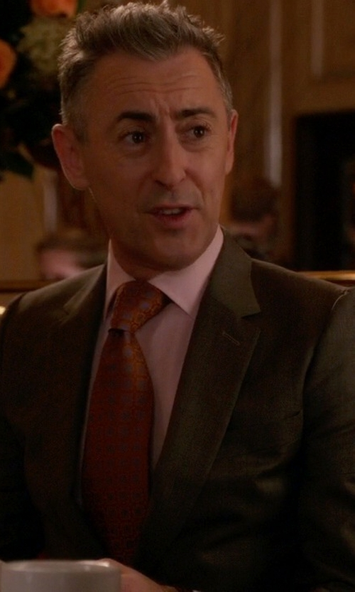 Alan Cumming with Kiton Micro-Flower Neat Silk Tie in The Good Wife