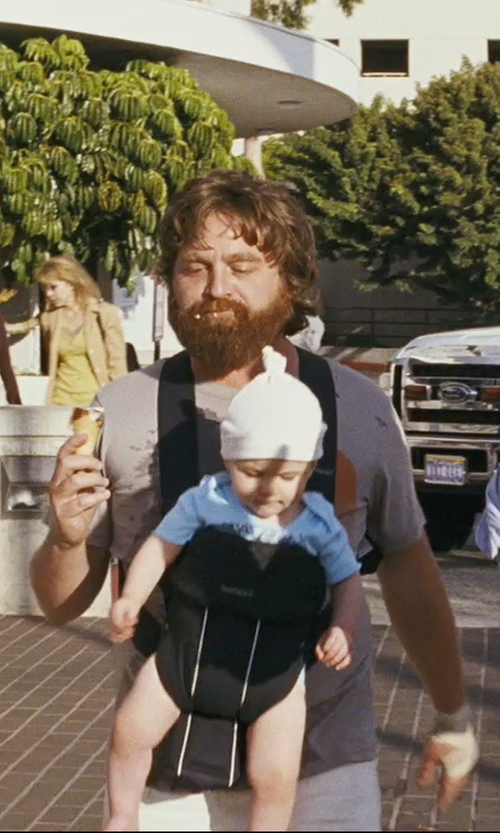 Zach Galifianakis with Infantino Flip Front 2 Back Carrier in The Hangover