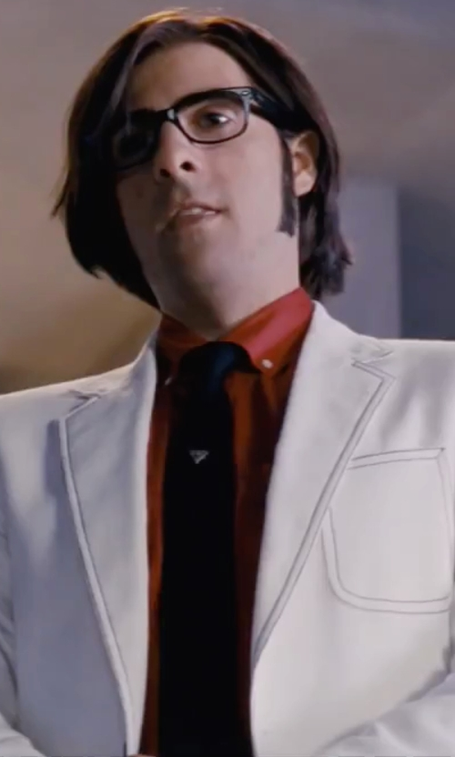 Jason Schwartzman with John Varvatos Star USA Seasonal Solid Skinny Tie in Scott Pilgrim Vs. The World