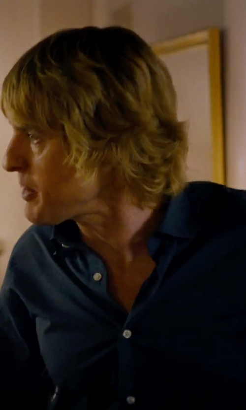 Owen Wilson with Armani Collezioni Solid Stretch Sportshirt in She's Funny That Way