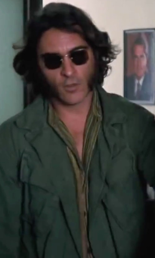 Joaquin Phoenix with Polo Ralph Lauren Custom-Fit Dobby Striped Shirt in Inherent Vice