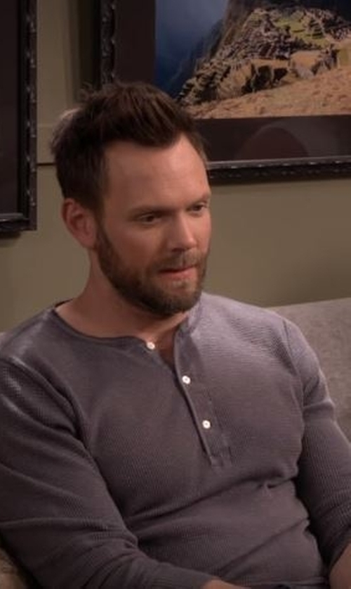 Joel McHale with Pendleton  Men's Deshutes Henley Shirt in The Great Indoors