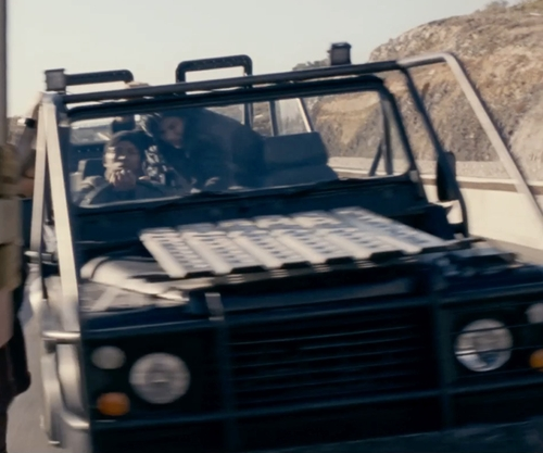 Unknown Actor with Land Rover Defender 110 SUV in Fast & Furious 6