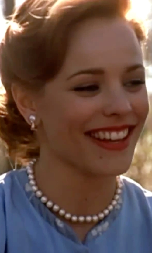 Rachel McAdams with Majorica  Pearl Necklace in The Notebook