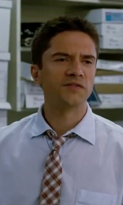 Topher Grace with Canali Cotton Spread Collar Dress Shirt in Valentine's Day