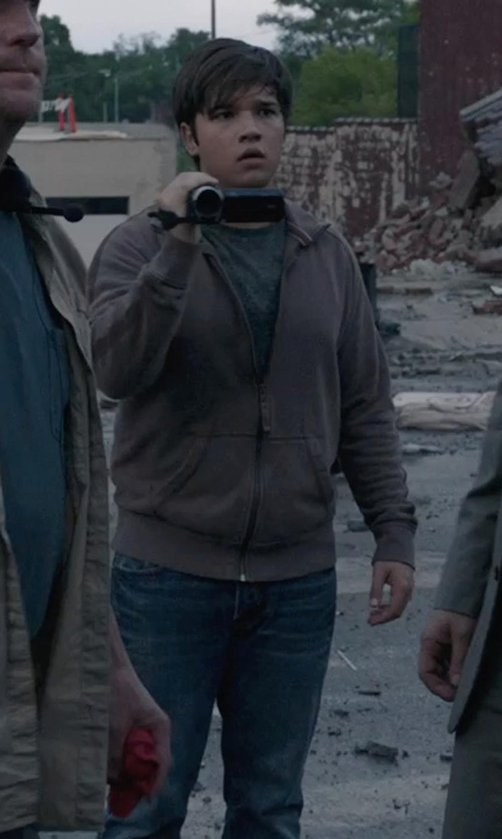 Nathan Kress with Carhartt Men's Midweight Mock Neck Sweatshirt in Into the Storm