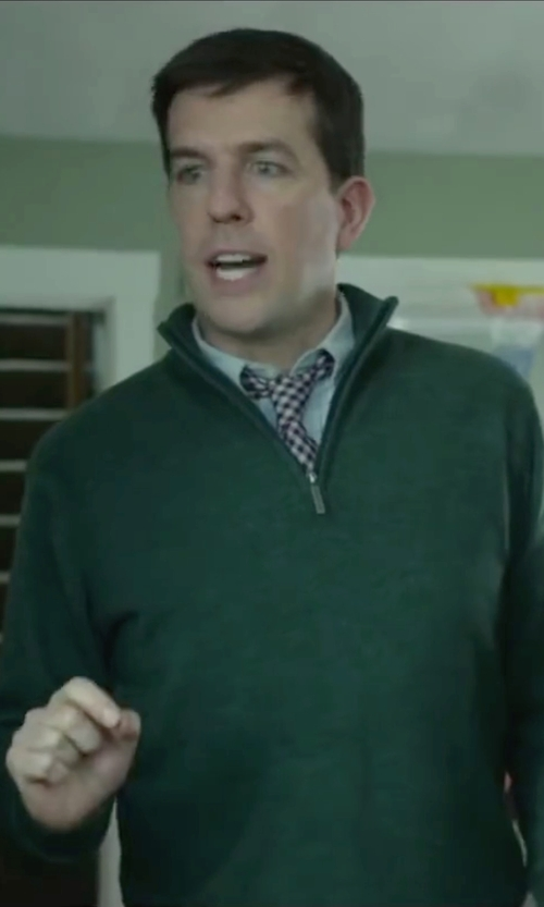 Ed Helms with Ralph Lauren Solid Pinpoint Oxford Dress Shirt in Love the Coopers