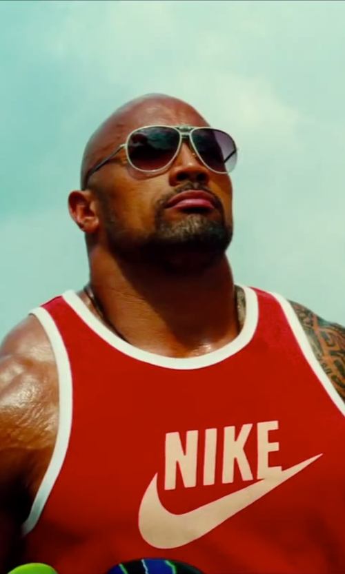 Dwayne Johnson with Nike Ace Logo Tank Top in Pain & Gain