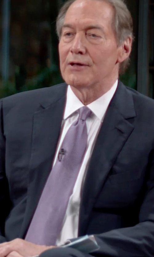 Charlie Rose with Michael Kors Two-Piece Wool Suit in Top Five