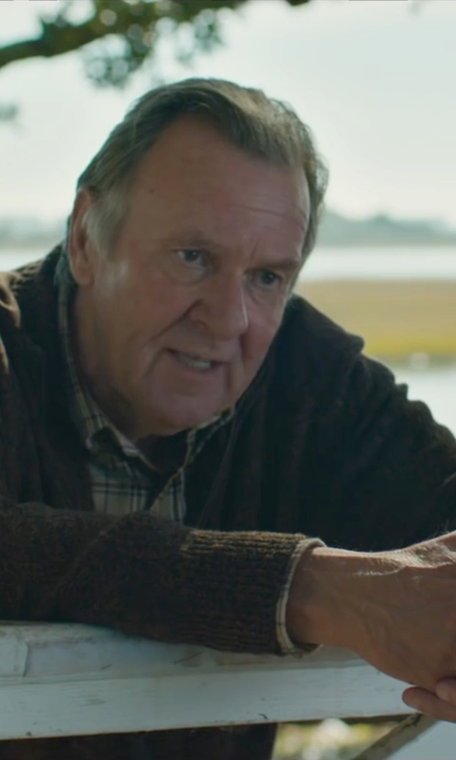 Tom Wilkinson with Sun 68 V-Neck Cardigan in The Choice