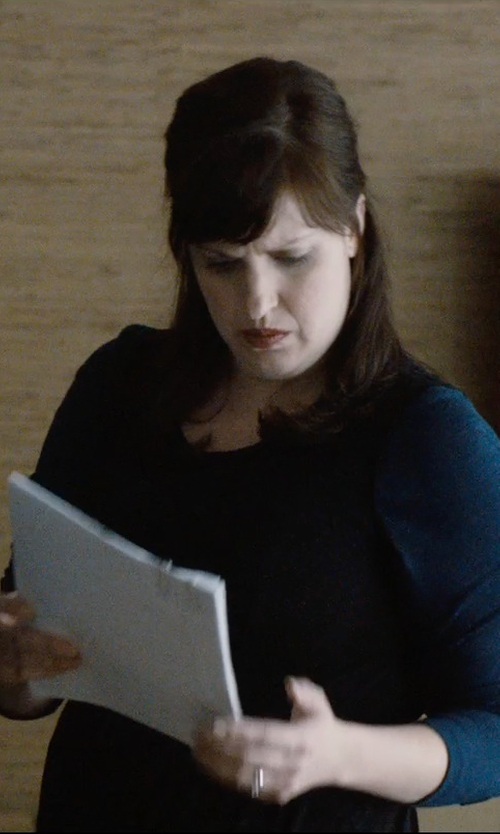 Allison Tolman with Forte Forte Round Neck Fitted Sweater in The Gift