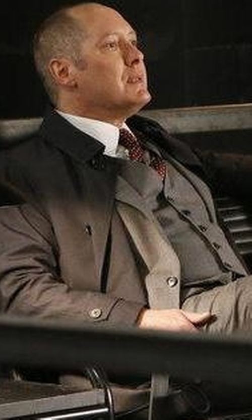 James Spader with Tom Ford Micro Dot-Print Silk Tie in The Blacklist