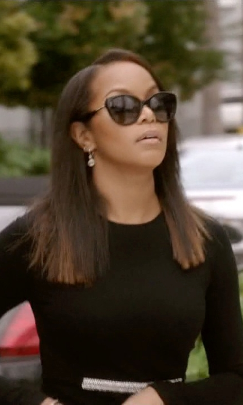 LeToya Luckett with Michael Kors Gstaad Polarized Sunglasses in Ballers
