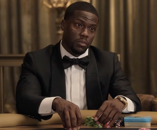 Kevin Hart with Richard James Wool And Mohair-Blend Tuxedo in Kevin Hart: What Now?