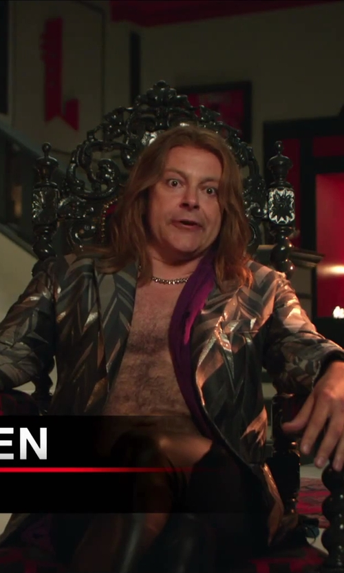 Rob Corddry with John Hardy Chain Necklace in Hot Tub Time Machine 2