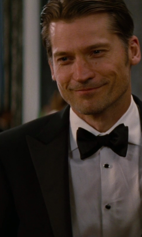 Nikolaj Coster-Waldau with Saint Laurent Cotton Poplin Tuxedo Shirt in The Other Woman