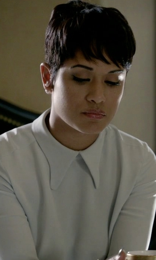 Grace Gealey with Derek Lam Bell Sleeve Blouse in Empire