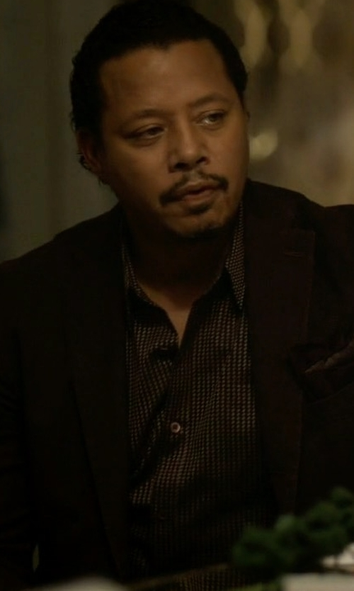 Terrence Howard  with Armani Collezioni Mesh Jacket in Empire