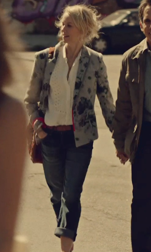 Naomi Watts with Frame Denim Straight Leg Denim Pants in While We're Young