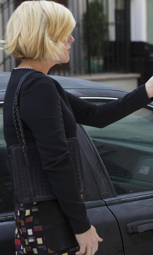 Jane Krakowski with Alexander Wang Ballchain Trimmed Collar Top in Unbreakable Kimmy Schmidt