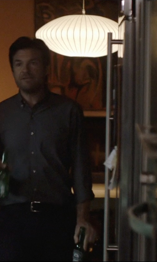 Jason Bateman with George Nelson Associates Nelson Saucer Pendant Lamp in The Gift