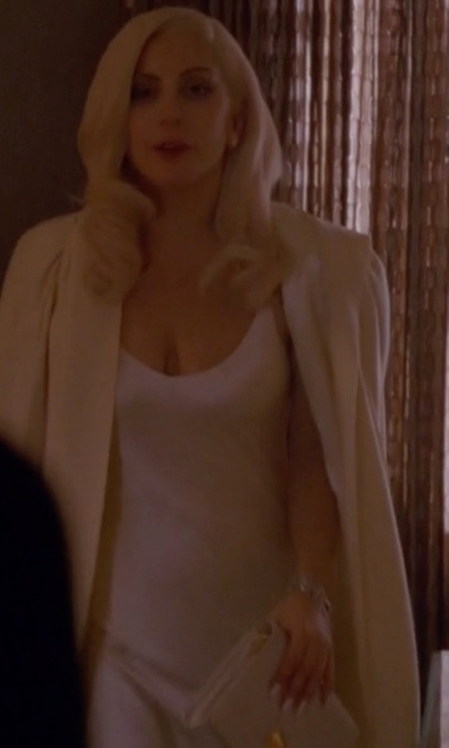 Lady Gaga with Isabel Benenato Slip Knit Dress in American Horror Story