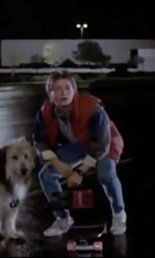 Michael J. Fox with Nike 1981 Bruin Sneakers in Back To The Future