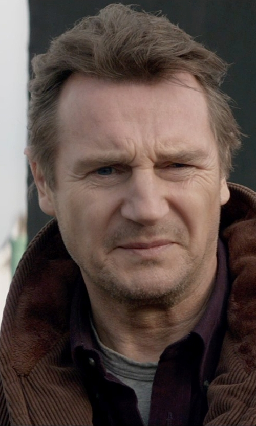 Liam Neeson with Apolis Crew Neck T-Shirt in A Walk Among The Tombstones