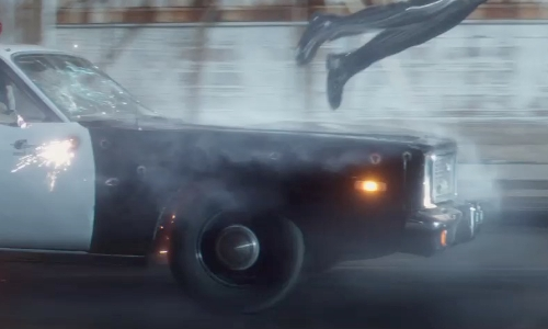 Byung-hun Lee with Plymouth 1970 Fury Sedan Car in Terminator: Genisys