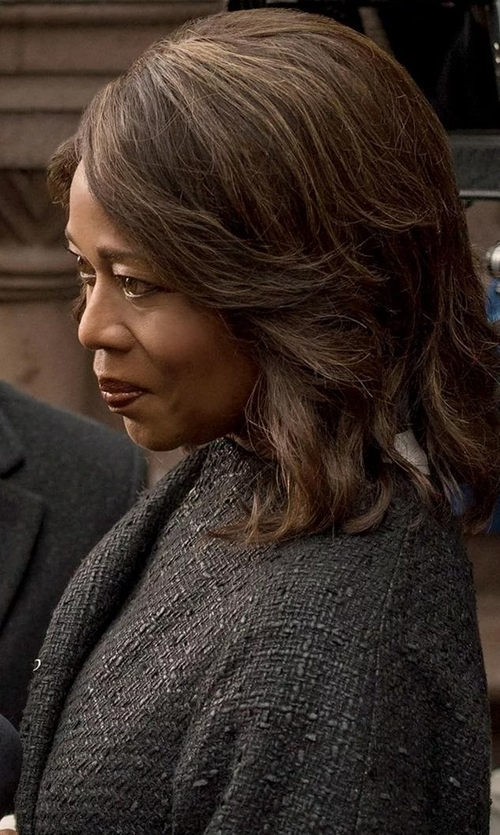 Alfre Woodard with Jan Mayen Full-Length Jacket in Marvel's Luke Cage