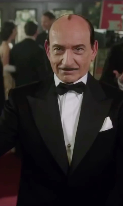 Ben Kingsley with Brioni One-Button Peaked-Lapel Tuxedo Suit in Life