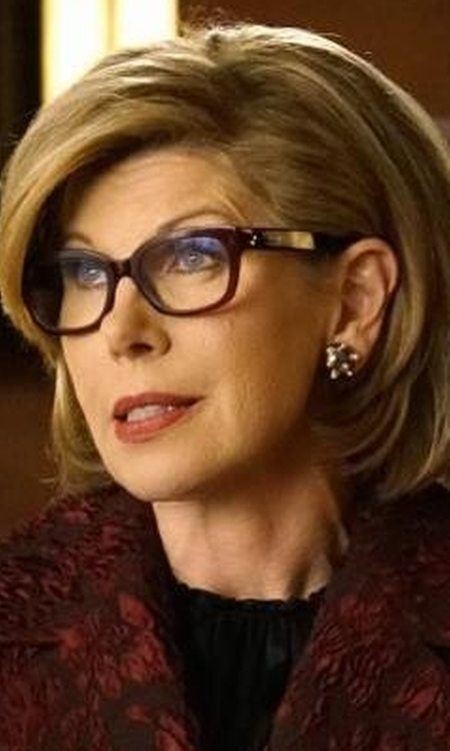 Christine Baranski with Bobbi Brown The Brooklyn Reading Glasses in The Good Fight