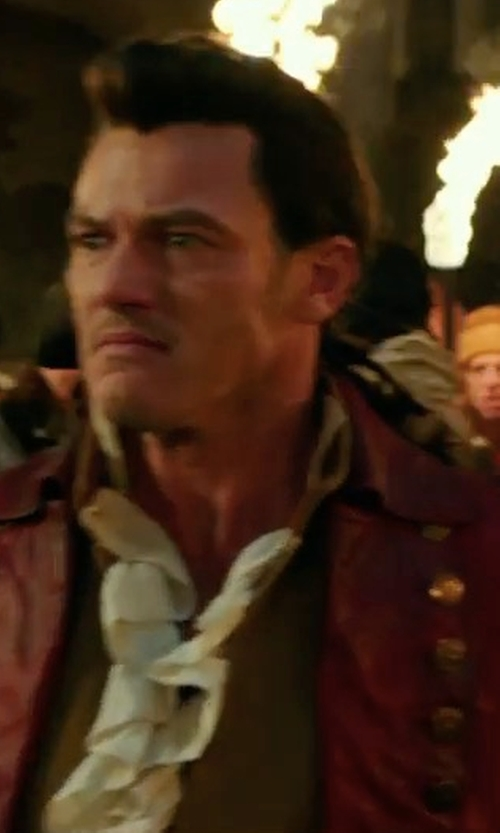Luke Evans with Jacqueline Durran (Costume Designer) Custom Made Gaston's Uniform Suit Costume in Beauty and the Beast