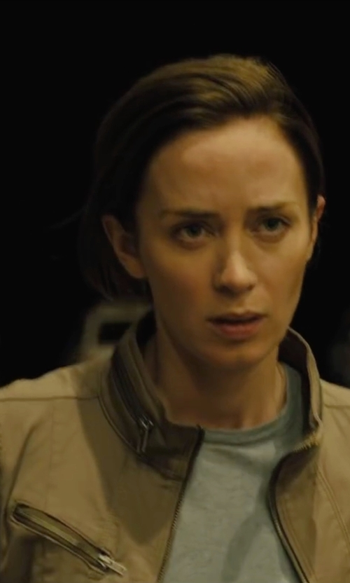 Emily Blunt with Sam Edelman Military Jacket in Sicario