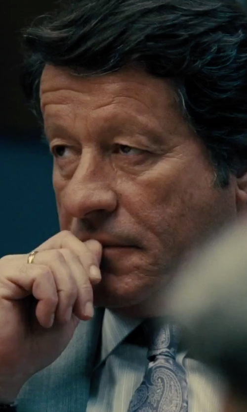 Joaquim de Almeida with Lauren Ralph Lauren Woven Jacquard Paisley Tie in Our Brand Is Crisis