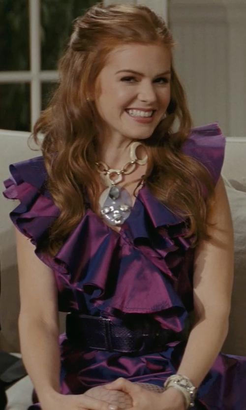 Isla Fisher with Amanda Uprichard Women's Cassey Ruffled Shift Dress in Confessions of a Shopaholic