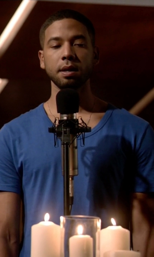 Jussie Smollett with T By Alexander Wang Cotton-Jersey T-Shirt in Empire