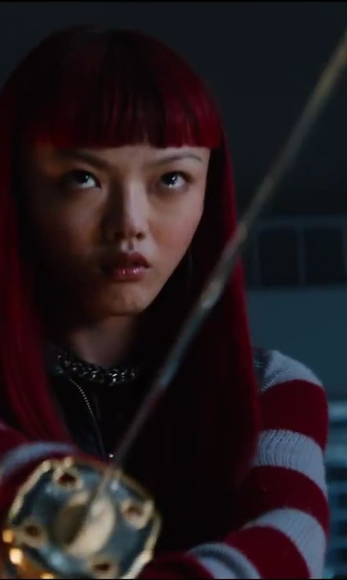 Rila Fukushima with Ryumon Hand Forged Samurai Sword in The Wolverine